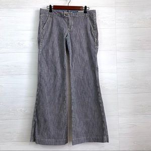 Gap Railroad Conductor Stripe Wide Flare Leg Pants